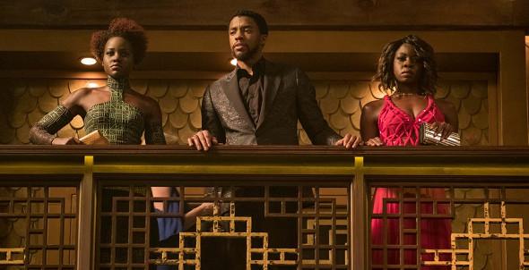 Chadwick Boseman, Lupita Nyong'o, Danai Gurira in Black Panther