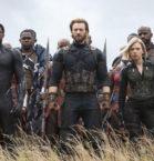 Chris Evans, Chadwick Boseman, Scarlett Johansen in Avengers: Infinity War
