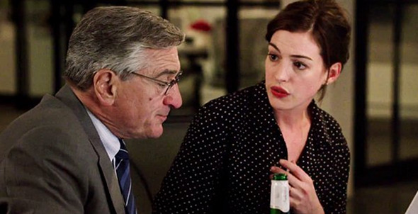 Anne Hathaway, Robert De Niro in The Intern