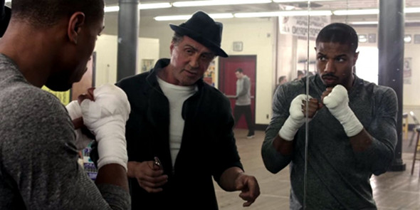 Sylvester Stallone, Michael B. Jordan in Creed