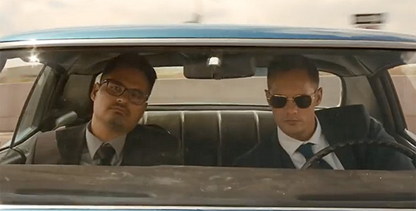 Alexander Skarsgard, Michael Pena in War on Everyone