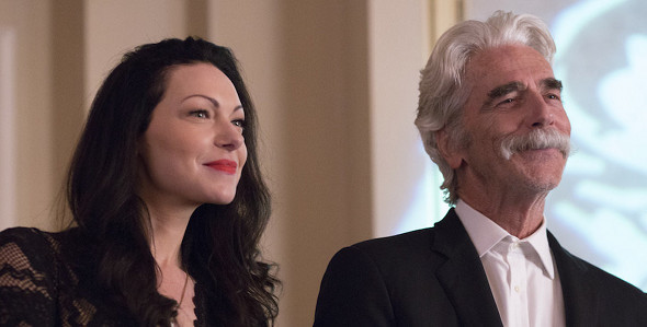 Sam Elliott, Laura Prepon in The Hero