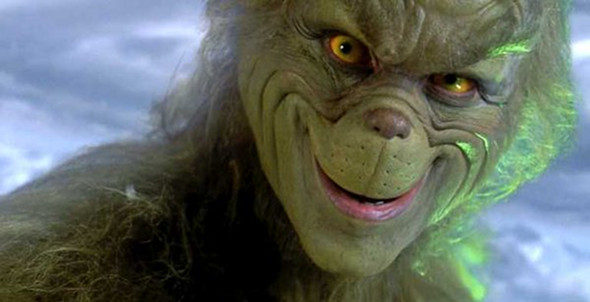 Jim Carrey in Dr. Seuss' How the Grinch Stole Christmas