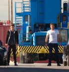 Scott Eastwood, Freddie Thorp, Ana De Armas in Overdrive